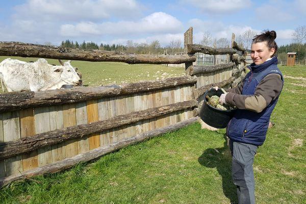 Audrey Rouzies, soigneuse au parc animalier d'Ecouves