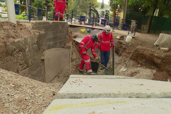 Coût des travaux : 700 000 euros, financés à moitié par l'état et à moitié par la Communauté d'Agglomération de Sophia-Antipolis (CASA).