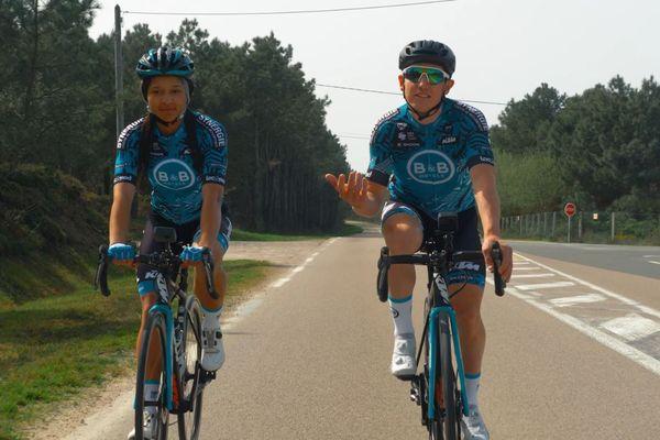 L'athlète Shana Grebo reçoit quelques conseils de Cyril Gautier, pilier du Tour de France : comment gérer ses efforts et réussir une longue carrière. Une Rencontre Sportive pour France 3 Bretagne.