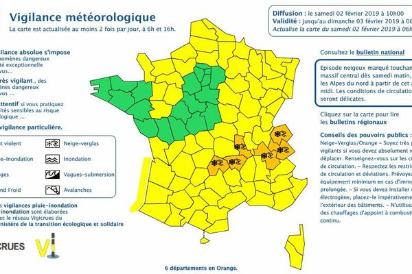 L'Isère placée en vigilance orange neige et verglas, à partir de samedi 2 février.