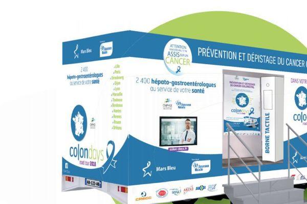 Le Road Tour Colondays sillonne la France durant tout le mois de mars et fait étape dans 13 villes, dont Dijon, pour informer sur le cancer du côlon.