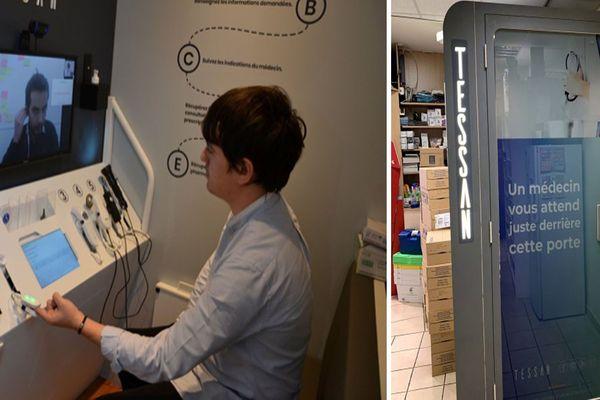 Des cabines de téléconsultation médicale en réponse au manque de médecins servent également lors de l'épidémie de coronavirus.