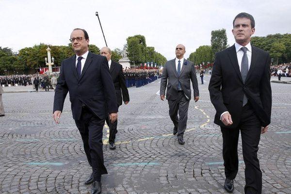 François Hollande et Manuel Valls, lundi 14 juillet.