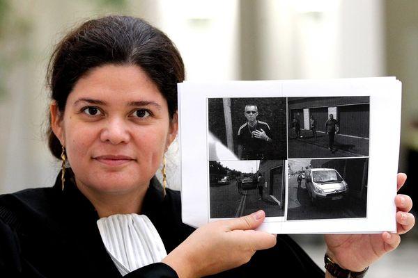 L'avocate de M. Mélenchon Raquel Garrido, dans le cadre de l'affaire des faux tracts Mélenchon- Le Pen