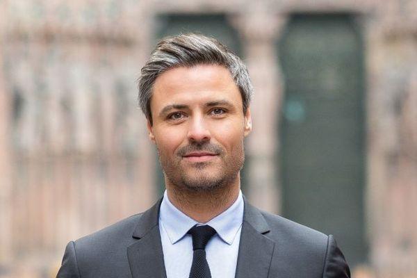 Jean-Philippe Vetter, candidat LR a recueilli à 18,26% au premier tour des élections municipales de Strasbourg le 15 mars 2020.