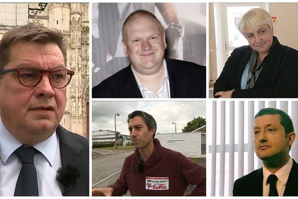De gauche à droite et de haut en bas : Stéphane Decayeux, Franck De La Personne ; Pascale Boistard ; François Ruffin ; Nicolas Dumont ;