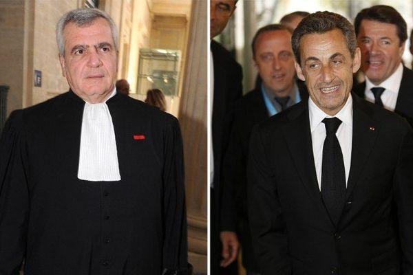 Me Herzog et son client , Nicolas Sarkozy.