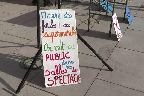 Affiche de la manifestation des professionnels de la culture, à Bayonne ce jeudi 4 mars.