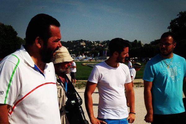 Eric Bartoli, Kevin son fils et Nicolas Perry.