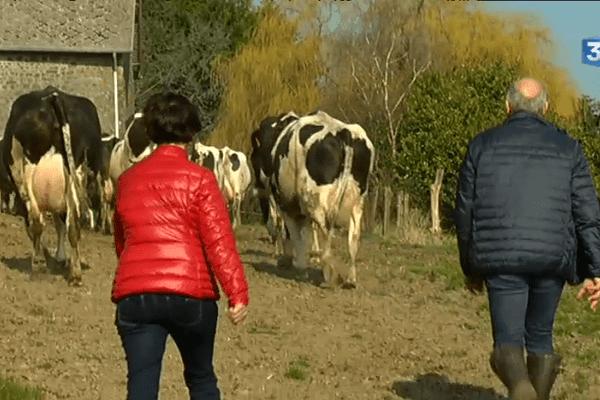 Ginette et Marc Bedouet dans leur ferme de Jublains (53)