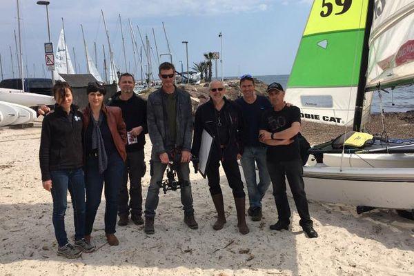L'équipe de tournage de Chroniques méditerranéennes à Cannes