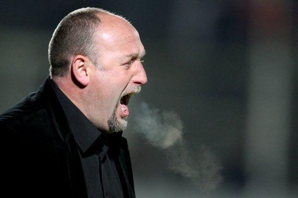 Franck Dumas, en 2009, alors entraîneur du Stade Malherbe de Caen