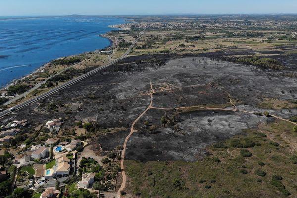 Au total, 198 maisons ont été protégées et des dizaines d'autres évacuées  dimanche soir, à Loupian et Bouzigues, dans l'Hérault. L'incendie qui a ravagé 300 hectares dimanche a été fixé en fin de soirée par une armée de pompiers.