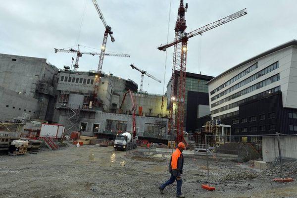 Le chantier de l'EPR de Flamanville en 2012