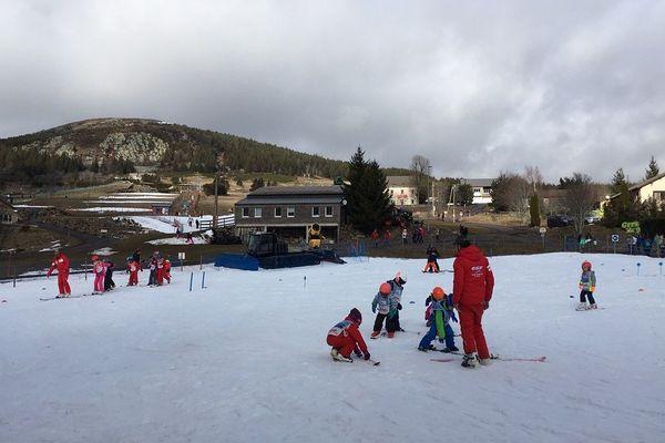 Le jardin des neiges seul endroit skiable à la station des Estables.