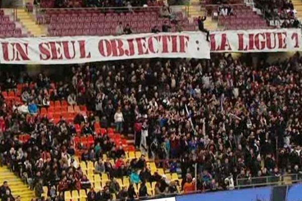 Le voeu des supporters de Metz : réussir en Ligue 2 avec pour objectif la Ligue 1.