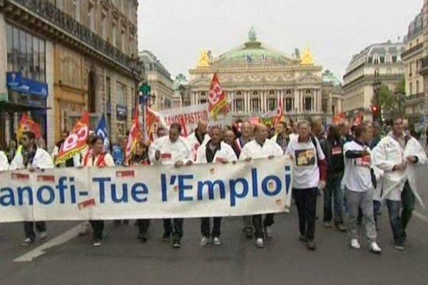 Paris - manifestation des SANOFI - 3 octobre 2012