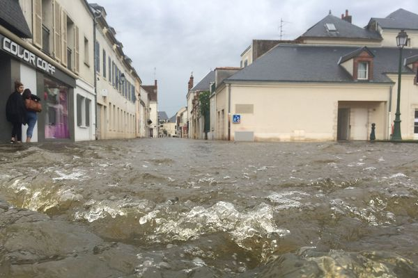 Montargis, à l'Est du Loiret, les pieds dans l'eau