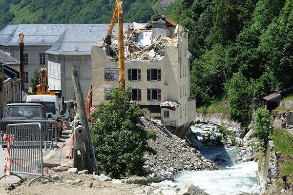 Le Comminges a été littéralement dévasté par les inondations comme ici à Barèges