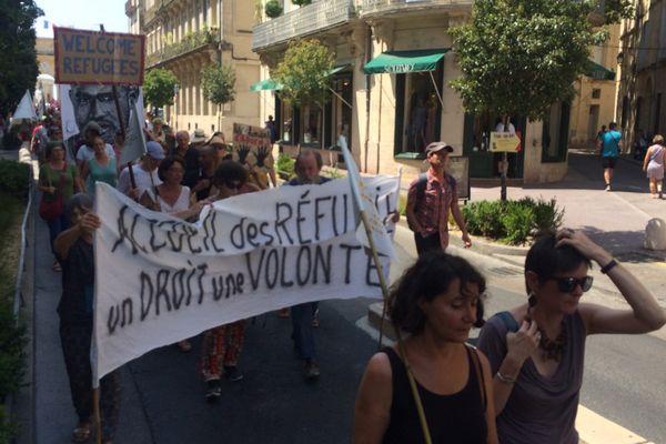 Environ 200 personnes se sont réunies à Montpellier pour soutenir les réfugiés.