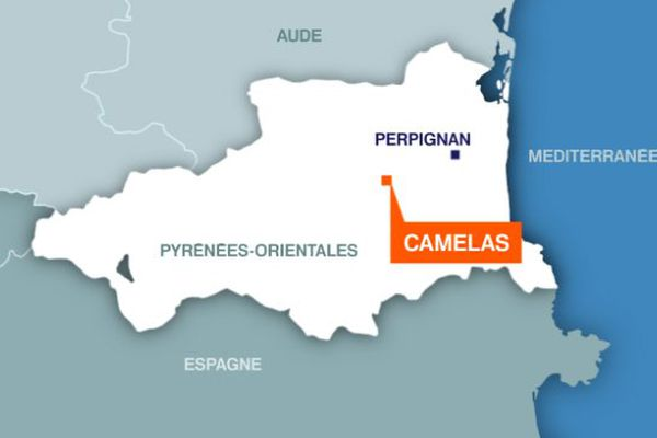 Carte Camélas (Pyrénées-Orientales)