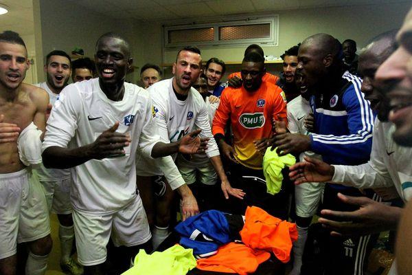 La joie d'Amiens, un club de CFA, d'avoir éliminé un club de Ligue 2, le Stade Lavallois.