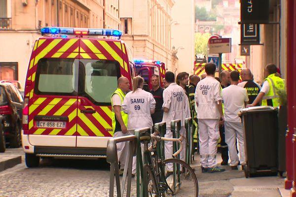 Secours après explosion du colis piégé à Lyon - 24 mai 2019