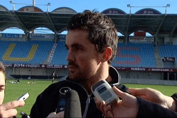 Sébastien Descons a été présenté à la presse ce vendredi. Perpignan le 31 janvier 2014.