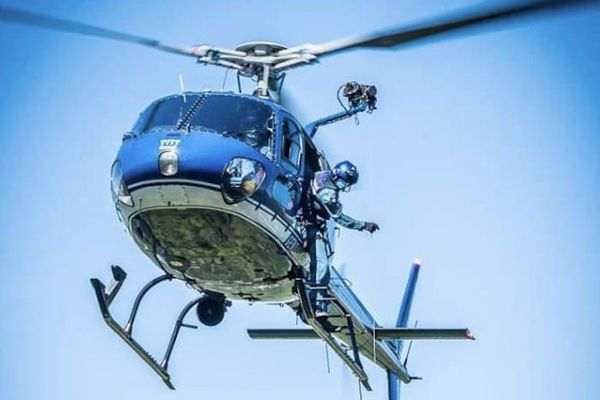 Entrainement d'hélitreuillage avec le Détachement Aérien de Gendarmerie d'Egletons