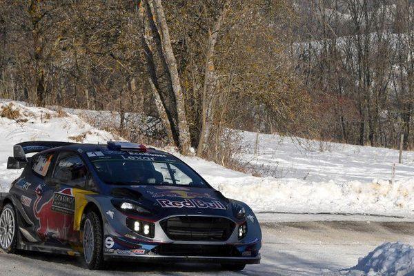 Sebastien Ogier , originaire de Gap, termine la journée en 2e position du Rallye de Monte-Carlo