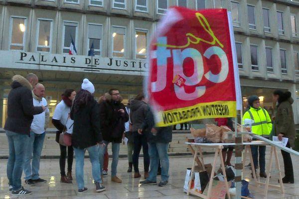 Mobilisation des conseillers pénitentiaires à Beauvais
