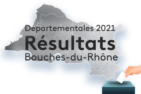 Les résultats des élections départementales 2021 dans les Bouches-du-Rhône.