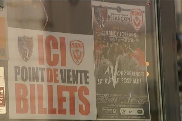 Avant la rencontre Besançon FC /AS Nancy Lorraine en coupe de France