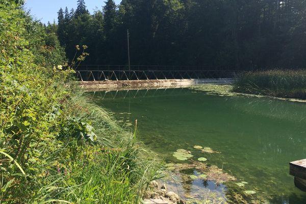 Archive : barrage du lac Saint-Point à Oye-et-Pallet.