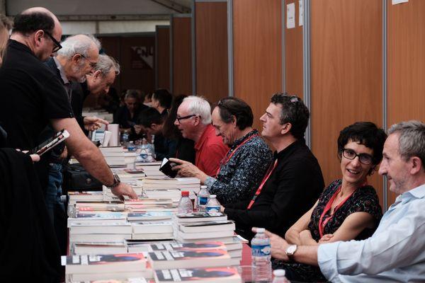 Edition 2019 du festival avec notamment Pascal Dessaint (troisième en partant de la droite)