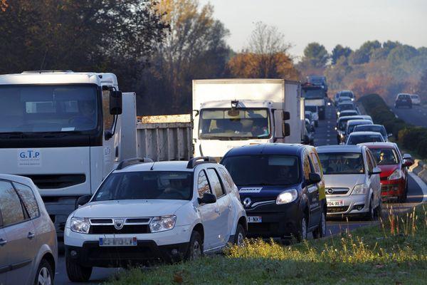 Embouteillage à l'ouest de Montpellier, aux heures de pointes (image d'illustration).