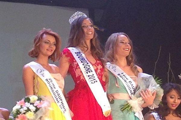 Jade Vélon, Miss Bourgogne 2015, et ses dauphines