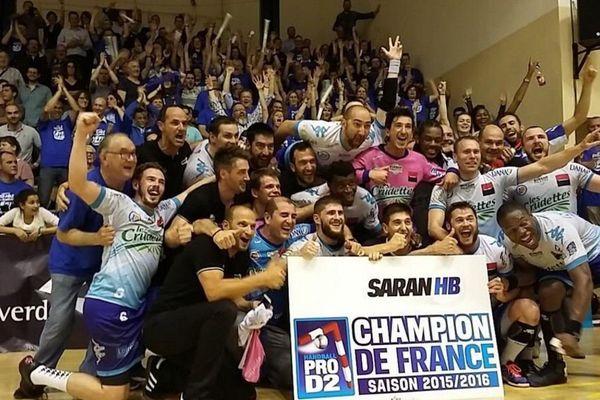 Le Saran HB champion de France de Pro D2 accède à la LNH