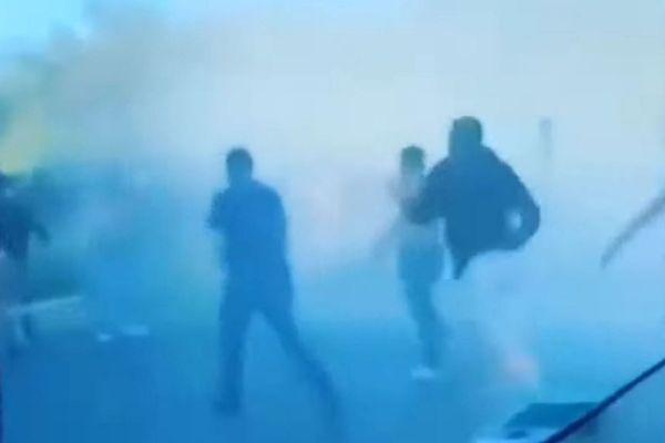 Des échauffourées ont éclaté entre supporters bordelais et montpelliérains le 22 septembre 2021, à Montpellier.
