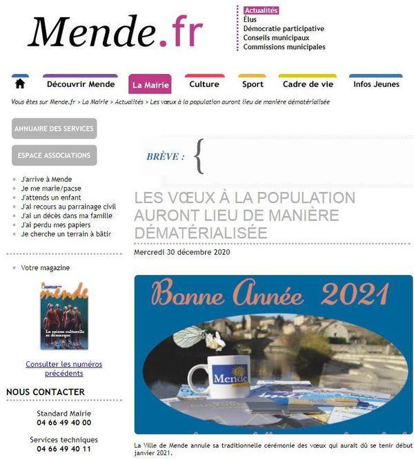 Les voeux de la ville de Mende.