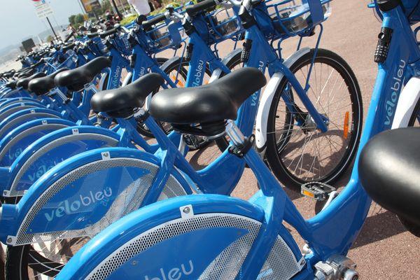 Difficile de trouver des vélos bleus en bon état l'été !