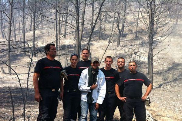 anEmmanuel Zini et les sapeurs-pompiers