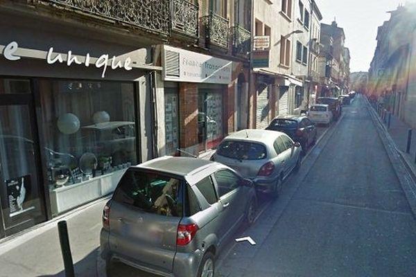 La rue de la Colombette à Toulouse