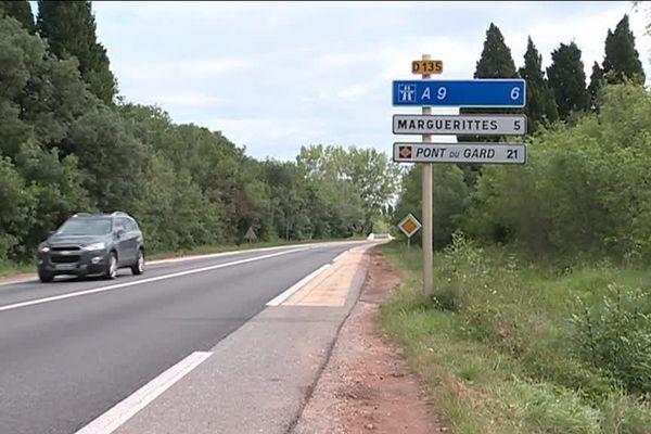 Le corps d'une femme a été retrouvé dans un fossé, le 4 juin 2018, par des cyclistes à Rodilhan (Gard)