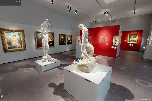 La salle des Beaux Arts du musée Soissons en visite virtuelle.
