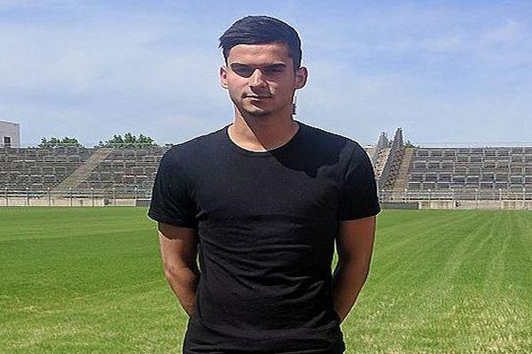 Nîmes - Le défenseur latéral gauche franco-portugais Florian Miguel.