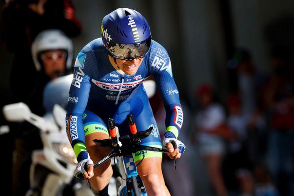 Fabien Doubey sur le Tour de Romandie en 2018.