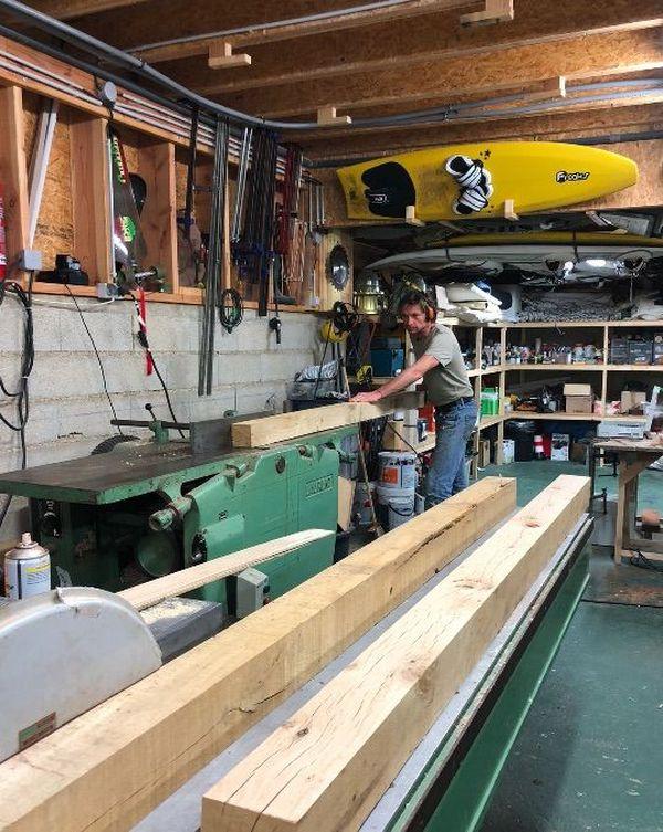 Yann dans son atelier (pendant le confinement) - Avril 2020