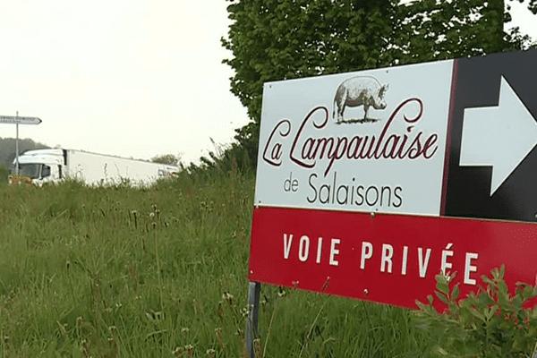 L'usine de Lampaul-Guimillau de la Lampaulaise de salaisons