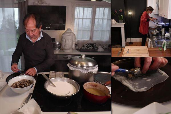 Patrick partagera avec France la technique de cuisson traditionnelle à la vapeur qu'il tient de sa maman.